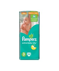 Pampers Active Baby-Dry подгузники №3 4-9 кг, 54 шт.
