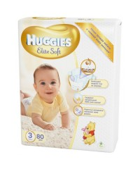 Huggies Elite Soft 3 (5-9 кг), 80 шт